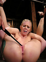Areola Size, Sexy blond gets tied up hard, abused, DP'd and forced to CUM.