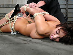 Fetish Vids: Fiery, sexy brunette gets bound and disciplined with water torture