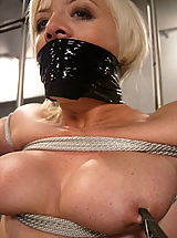 Kink Pics: Feisty blonde is tied gagged and dunked
