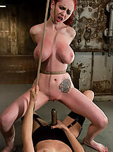 Kink Pics: Berlin gets her giant tits shocked and bound