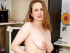Sensitive Nipples, Sensual cougar midori shows off her blushing pink milf snatch