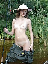 Girl Fishing Naked