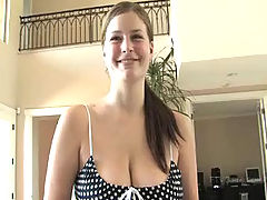 young naked, Danielle shows off her big boobs