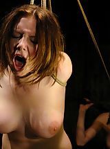 Fetish Nippels, Nineteen year old Sara is put in tight bondage and electrocuted