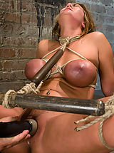 Fetish Pics: Huge titted blond, bound, punished and force to cum!