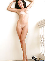 Tan.Lines Pics: Pretty venus strips off on floor having her sweet naked body on camera