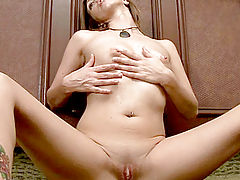 Asian Vids: Anilos lacey rubs lotion all over her mature body