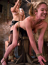 Kink Nippels, Two hot doms gang up on Jade Marx and force her to cum with electricity!!!