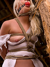Fetish Pics: Beautiful Russian blonde tries bondage for the first time
