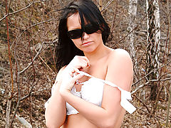 Outdoors Vids: Veronika gives her viewers a great look at her teen pussy