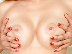 Rock Hard Nipples, Nubile Nikysweet loves to rub her swollen clitoris on camera