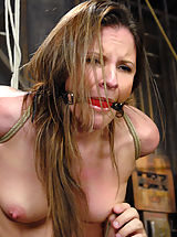 Kink Pics: Cute sexy Hogtied.com member has her first bondage shoot
