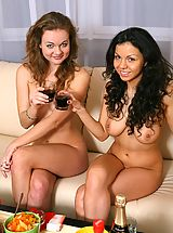 Naked True Beauty, Naked beauties are having fun beaing naked on a birthday party
