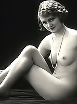 nipples hardening, Very Old Erotic Vintage Postcards From France Displaying Fully Naked Women