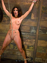 Large Areolas, Petite, brunette MILF bound, punished and force to cum!