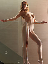 erect nipple pics, Supermodel Eufrat poses nude in the House of Glass...