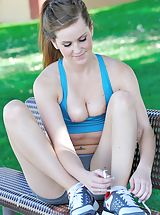 naked mature, Brina is sporty and strong