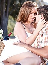 Maddy O'Reilly, Tyler Nixon Nude Slut reveals her uncovered juggs, draws down her underwear and opens her limbs and fingers her tight-fitting crack