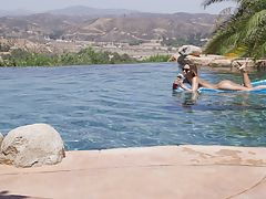 Outdoors Vids: 23472 - Nubile Films - Poolside Pounding