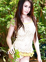 Pillow Biter, Sasha 02, Asian Lady Exposes Her Fake Breasts In The Garden