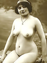 Vintage Dress, Forgotten European Nude Photography from 1850 to 1920 Featuring Lewd Naked Girls Posing On VintageCuties.com