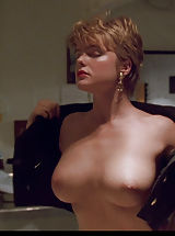 Tender Nipples, Erika Eleniak shows down her huge, breathtaking tits