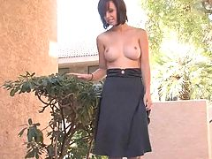 Bumps on Areola, Hayden takes off her dress outside