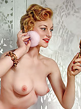 naked wife, Retro Style Weiber