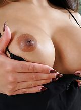 Slit and Ass Worship Pic Set No. 1554 Adrian Hush strips down raw uncovers her damp Labia