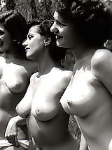 Vintage Nippels, Vintage Pics Of Triplets Of Naked Ladies From The 40's-50's That You Never Saw Before