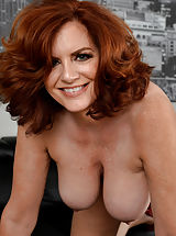 women hard nipples, Attractive 34+ Milf reveals her good trained vagina Redhead Aged Andi James