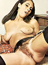 Hairy Pussies of Wide Leg Spreading Women of 60's - Natural Girls Teasing Men to Fuck Them with Huge Creampies