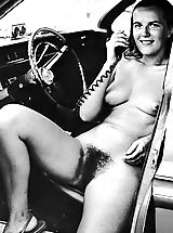 Old and Funny Vintage 50s and 60s Photos Of Naturist Girls Exposing their Hairy Pussies at Nude Camps and Resorts