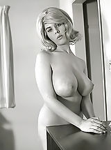 Vintage Retro, Exclusive Vintage Erotica Photos of a Big Busty Porn Queen of 1960s Owner of Enormous Pair of Fucking Breasts