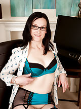 Milf Nippels, Emily Marshall marked in Small Boobs,Hairy Pussy,Black Hair,Long hair,Bras,Lingerie,Masturbation,Fair Skin,High Heels,Glasses,Big Areolas,Natural,Milf,Stockings