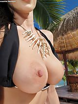 Erect Nipples, Bare Sexy Adulteress 947 Breanne Benson shows those tremendous boobs