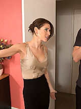 Small Areola, Gorgeous babe Jenni Lee is horny and decides to cheat on her boyfriend with his son!
