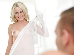 [Spintax1], Windswept blonde Claudia Macc does a hot dance then climbs aboard for a lusty 69 and a stiffie ride in her bald pussy