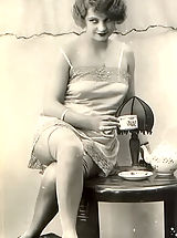 Vintage Pics: Genuine Vintage Erotic Postcards of Naked Women from France circa 1920 Perky Little Nipples & Hot Underwear