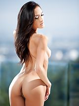 naked boobs, Chloe Amour Breathtaking Lady shows her uncovered boobs, draws down her knickers and spreads her limbs and hand fucks her snug crotch