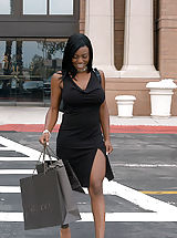 Black Pics: Content of Jada Fire - I was shopping when I med Jada. She was left all alone at the mall because her husband got tired of waiting for her. I couldn't leave a sexy woman behind and invited her to come back home with me and my wonderful and waiting...