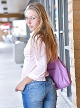 Naked Jeans, Brianna Timid in Public