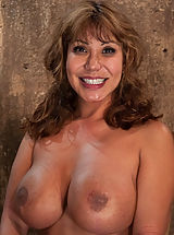 Big.Tits Nippels, Hot MILF with huge tits, bound and made to suck cock! Elbows together, crotch rope and a good face-fucking. Left on floor to struggle for freedom.