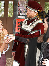 Kelly Madison and Rebeca Linares get into character and fuck their King Ryan after the Renaissance festival.