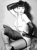 Vintage Pics: The Dark Side of Vintage Porn Queen Bettie Page - Painful Walking In High Heels and Problems with Hairy Pussy