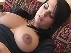 Julie fucks a big sex toy
