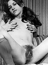 Hairy Puffy Nippled Amateurs Pose In These Old Vintage Photos On Vintagecuties.Com