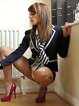 Naked St. MacKenzies, Secretaries in High Heels Headmistress Mackenzie 2 in July 2011