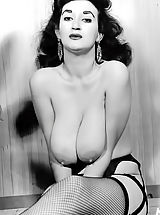 Woman's Nudity in Vintage Photography - From 1950's To 1970's Naked Busty and Hairy Ladies Entertained Men