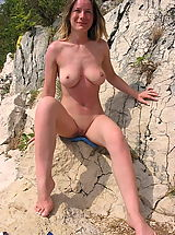 Very Hot Naturist Ladies Pose All Naked And Showing Tits And Even Spreading Cunts